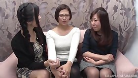 A catch first lesbian experience in a threesome is memorable be expeditious for Hibiki Ohtsuki