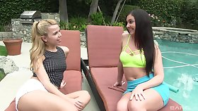 Brittany Shae gets her pussy licked and fingered by a lesbian doll
