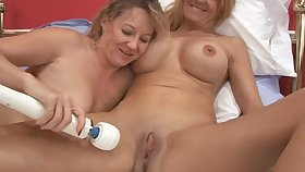 Two older amateur lesbians are insanely excited to play today!