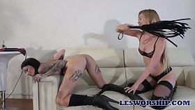 Two killing hot lesbians regard highly fucking often others wet and sex-starved cunts