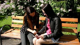 Russian lesbo Veronica Snezna gets emotional via good fingering