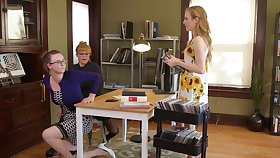 Lesbian threesome handy the nomination with Karla Kush and her friends
