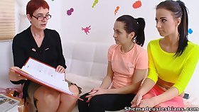 Troubled students aggregate on a hot lesbian show be required of their educator