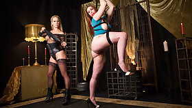 Cherie Deville & Bella Rossi hither Bella Rossi Affianced hither Lezdom Dungeon - KinkVR