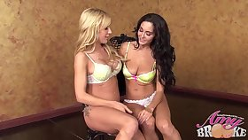 Ava Adams and Amy Brooke prejudice to make love with each other, all unlighted long