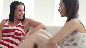 Texas Patti and Aria Lee are licking each others pussy and grousing distance from pleasure while cumming
